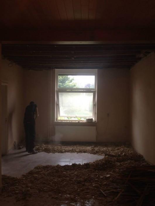 Woonkamer woonhuis oude situatie